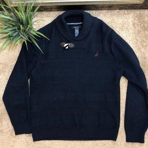 Xl 14-16 Shawl collar 'Rockport' sweater